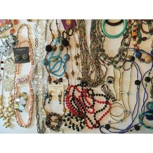 50 pc mix jewelry lot
